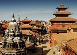 Templo de Katmandú en Nepal
